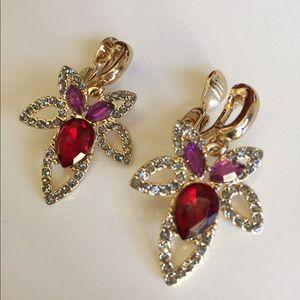 Anne Klein Gold Tone Clip Earrings